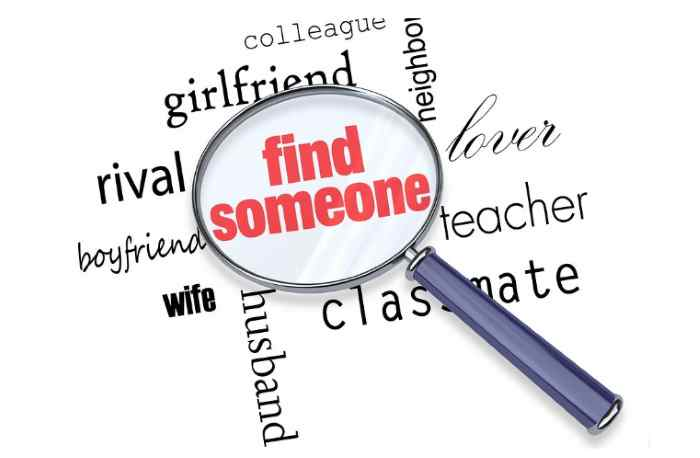 Find someone online by email or username