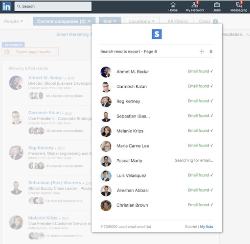 Importing contacts from your phone to find people on social networks