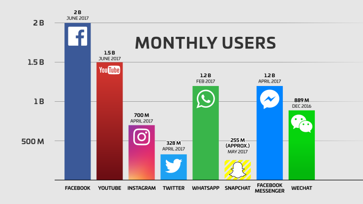 Number of social network users